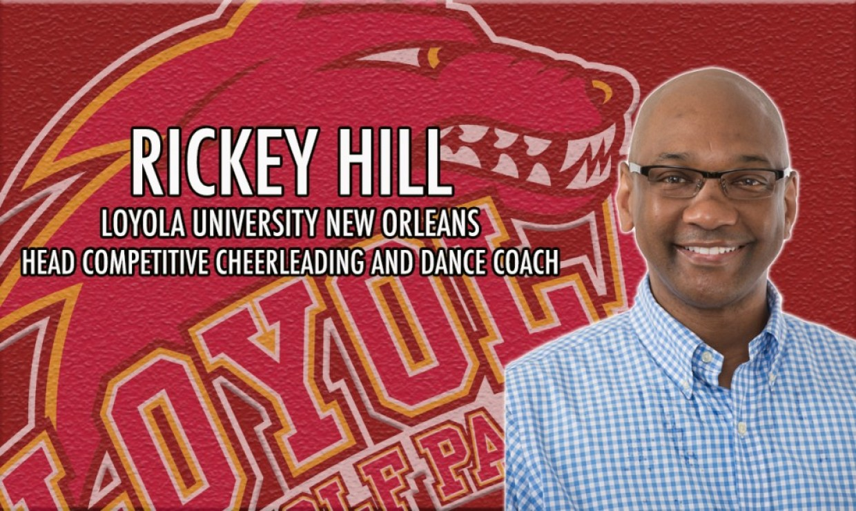 Photo for Rickey Hill named Loyola Competitive Cheerleading and Dance Coach